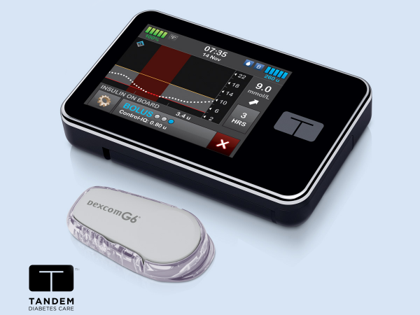 The t:slim X2 with Control-IQ™ Technology and Dexcom G6